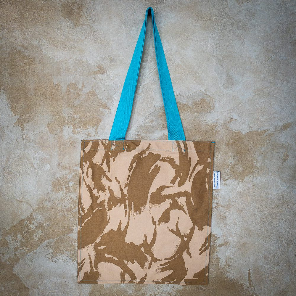 Desert DPM Tote Bag in Turquoise
